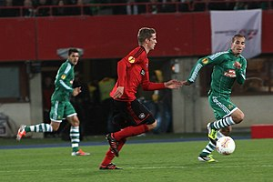 Lars Bender - Lars Bender playing for Bayer Leverkusen.