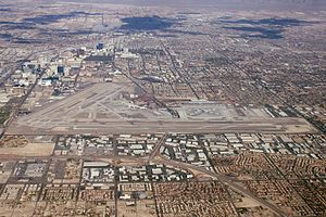 McCarran International Airport - Aerial view of the airport in 2012