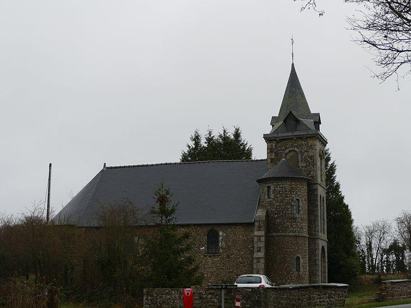 Saint-Joseph's chapel in Lassay-Les-Châteaux (Mayenne, Pays de la Loire, France).