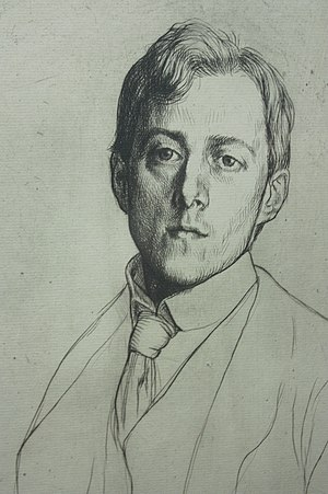 Laurence Binyon - Laurence Binyon, 1898, drypoint by William Strang.
