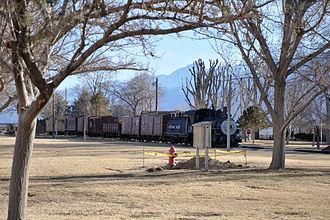 Laws, California - Train in the historic district
