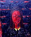 Le portrait rouge - 61x50 cm, 1948.JPG