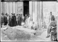 LedgerStone PhilipD'Aubigny Died1236 ChurchOfHolySepulchre Jerusalem BeforeLowering 1925Photo.png