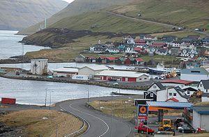 Leirvík - Leirvík in March 2002
