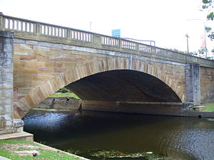 David Lennox - The Lennox Bridge over the Parramatta River opened in 1839.