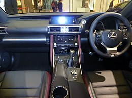 Lexus IS200t F SPORT (DBA-ASE30-AEZLZ) interior.jpg