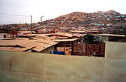 Slums in the outskirts of Lima.