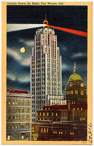 Fort Wayne, Indiana - The Lincoln Bank Tower was completed as Indiana's tallest building in 1930.