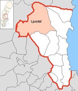 Ljusdal Municipality in Gävleborg County.png