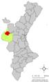 Localització d'Utiel respecte del País Valencià.png