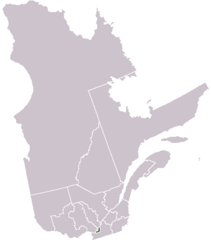Urban agglomeration of Montreal - Image: Location Montréal