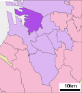 Location of Sakai ward Sakai city Osaka prefecture Japan.svg