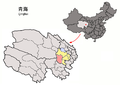 Location of Xinghai within Qinghai (China).png