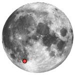 Location of lunar crater pitatus