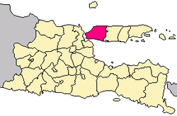 locator of Bangkalan Regency