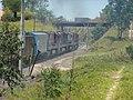 Locomotivas de comboio que passava sentido Guaianã pelo pátio de cruzamento Convenção em Itu - Variante Boa Vista-Guaianã km 194 - panoramio (1).jpg