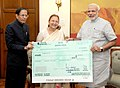 Lok Sabha Secretariat officers and staff donate a day's salary to the PMNRF.jpg