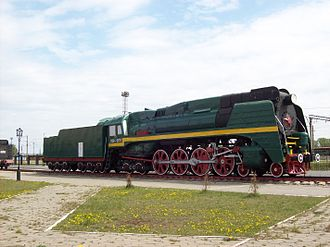 Russian locomotive class P36 - P36-0071 in NIzhny Novgorod