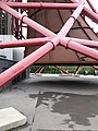 London, Stratford - ArcelorMittal Orbit, detail of the structure and steel cone.jpg