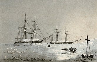 Edward Belcher - HMS Resolute and Intrepid winter quarters, Melville Island, 1852–53