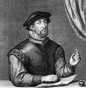 Petrus Lotichius Secundus - Engraving of Petrus Lotichius Secundus