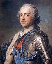 Un pastel de Luis XV de Francia por Quentin de La Tour