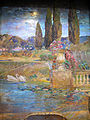 Louis c. tiffany, paesaggio con giardino e una fontana, 1915 ca., 02.JPG