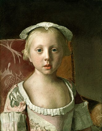 Princess Louisa of Great Britain - Portrait of Louisa by Jean-Etienne Liotard, 1754