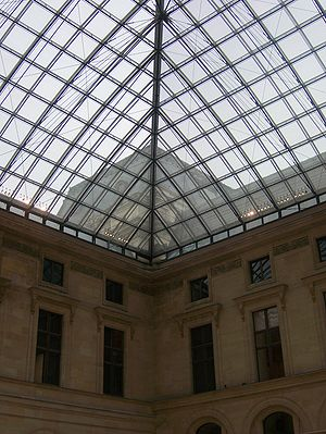 Glass ceiling the Louvre.