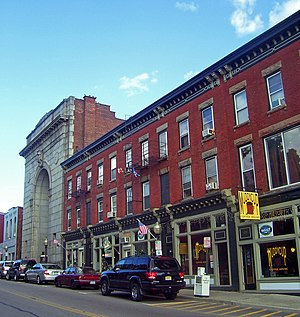 Lower Main Street Historic District - The south side of Lower Main Street, 2007