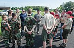Lt. Col. Ash Groves, commander of the Kentucky Air National Guard's 123rd Maintenance Squadron, briefs members of the Civil Air Patrol.jpg
