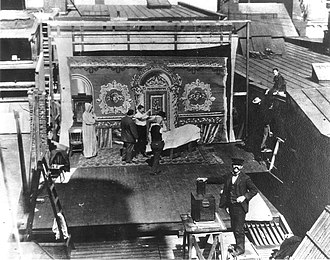 Lubin Manufacturing Company - Lubin Studios open air set on the roof of the building in Philadelphia, 1899