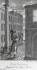 Luigi Bassi in der Titelrolle von Mozarts Don Giovanni 1787 (Quelle: Wikimedia)