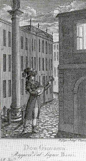 Luigi Bassi - Luigi Bassi in the title role of Mozart's Don Giovanni in 1787