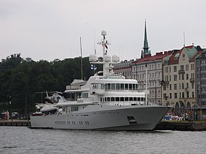 Larry Page - Page's superyacht 'Senses', docked in Helsinki