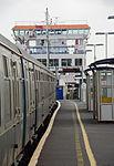 Lymington Pier railway station MMB 09 421497 Wight Sun.jpg