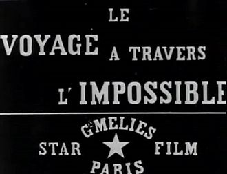 Star Film Company - The Star Film trademark on a title card for The Impossible Voyage