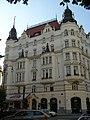 Měšťanský dům U Reduty (Josefov), Praha 1, Pařížská, Břehová 19, Josefov - pohled z Pařížské ulice.JPG
