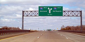 M-6 (Michigan highway) - Image: M 6 & I 196 Interchange 2