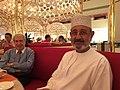 M.Mahrouqi, shura council of Oman, Dr.Rifaai, former Finance Minister of Syria, Doha,2017.jpg