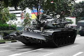 Singapore Army - Image: M728 Combat Engineer Vehicle (CEV)