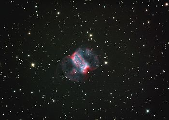 Image of planetary nebula M76 (http://www.prin...