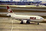 MEA Airbus A310 F-OHLI at LHR (15536562394).jpg