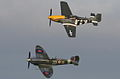 MH434 Spitfire and P51 flypast (5222302254).jpg