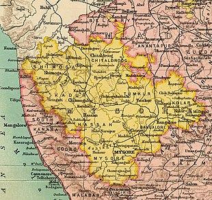 Ausschnitt aus dem Atlas des Imperial Gazetteer of India (1909)