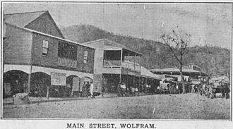 Wolfram, Queensland - Historic photo of Main street, Wolfram