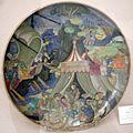 Maiolica di urbino lustrata a gubbio, francesco urbini, enea e troiani, 1533.jpg