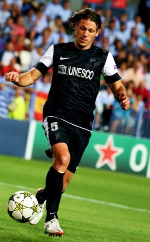 Martín Demichelis - Demichelis playing for Málaga in 2012.