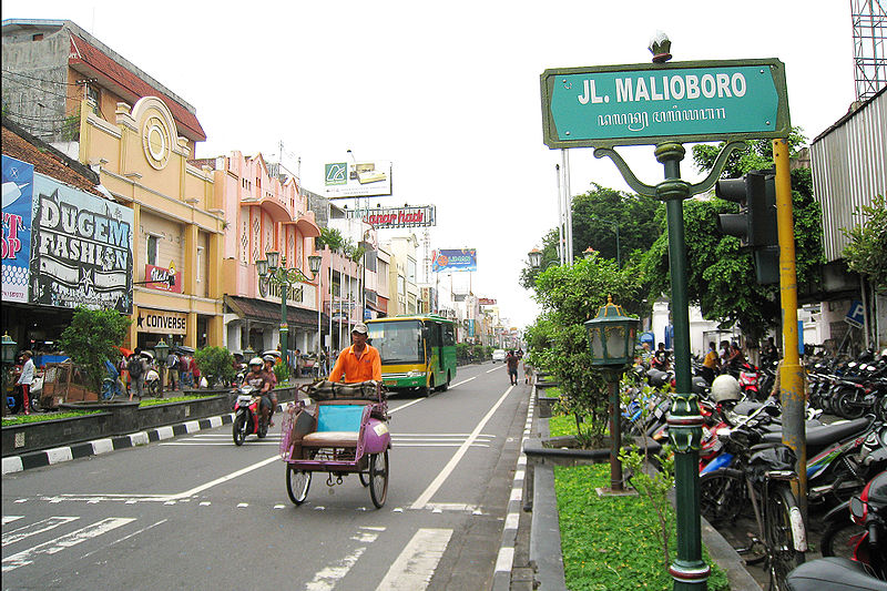 Papan Nama jalan di Jogja ditulis pake Java Script