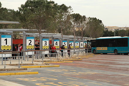 Bus station at Valletta Malta - Valletta - Vjal Nelson - City Gate Bus Station 01 ies.jpg